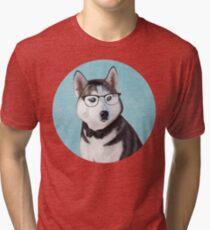 Mr Siberian Husky Tri-blend T-Shirt