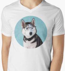 Mr Siberian Husky Men's V-Neck T-Shirt