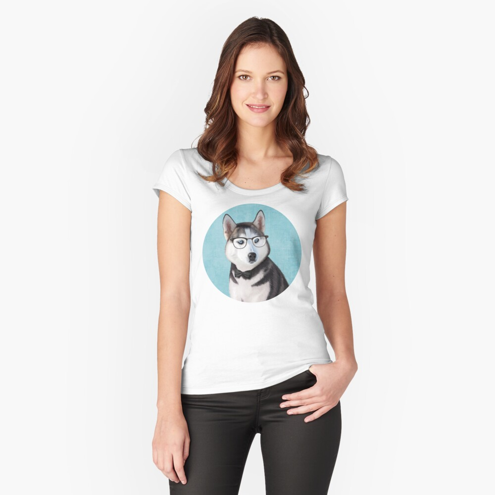 Mr Siberian Husky Women's Fitted Scoop T-Shirt Front