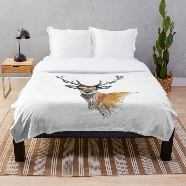 Stag Throw Blanket