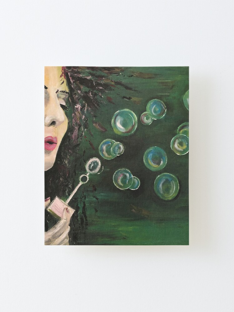 Alternate view of Bubbles Mounted Print
