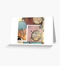 Collage Circular II Greeting Card
