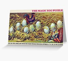 The Magic Egg Puzzle Greeting Card