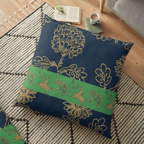 Flower Pattern, Blumen Design  Bodenkissen