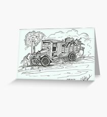 1927 White Truck Greeting Card