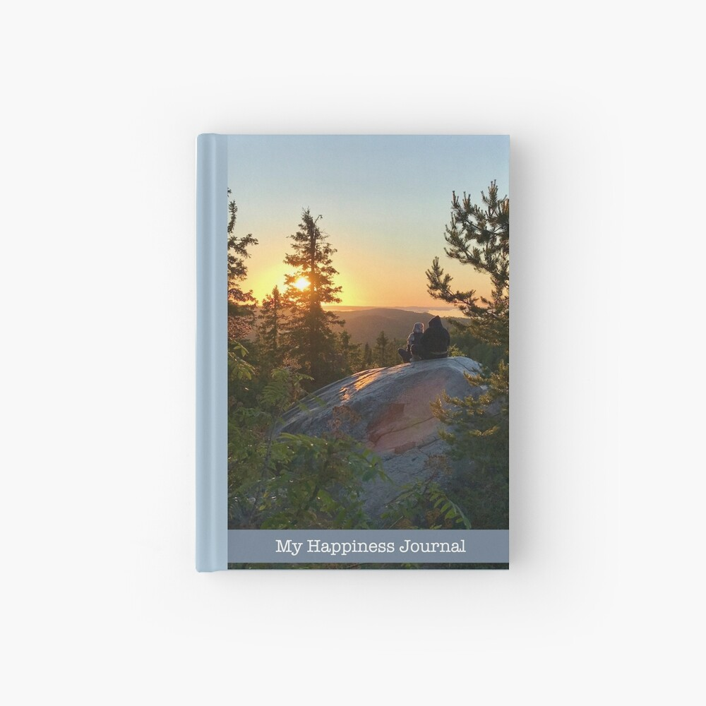 My Happiness Journal Lovers at Sunset Hardcover Journal