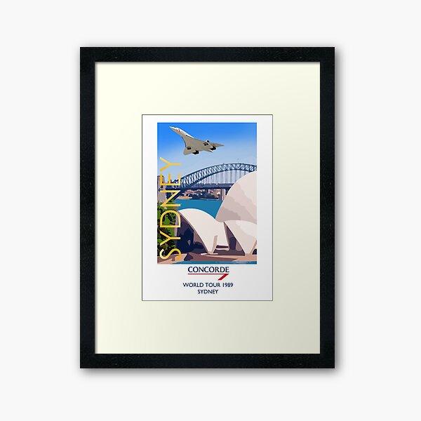 Concorde World Tour 1989 - Sydney Australia Framed Art Print