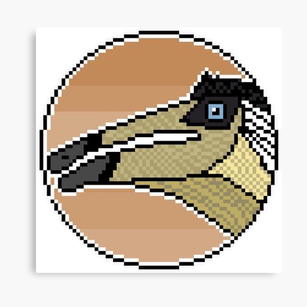 Pixel Deinocheirus mirificus Canvas Print