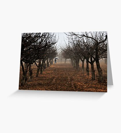 Out Walking in the Orchard Greeting Card