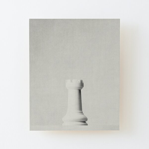GAME OF THE THRONE / The White Rook Wood Mounted Print