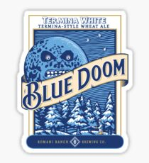 Blue Doom Sticker