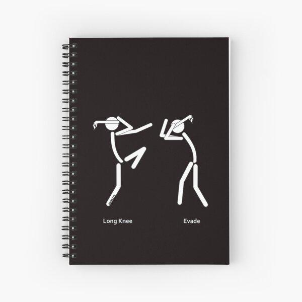Muaythai Long Knee Spiral Notebook