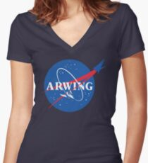 Arwing Women's Fitted V-Neck T-Shirt