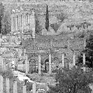 Forum at Ephesus by Quixotegraphics