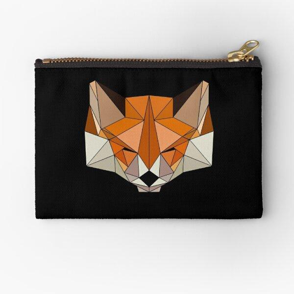 Simple Sleeping Foxie in Black Zipper Pouch