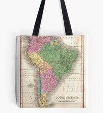 vintage Map of South America Tote Bag