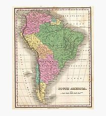 vintage Map of South America Photographic Print