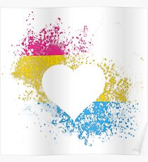 Pansexual Pride Heart Poster