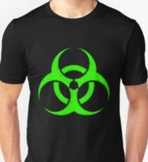 GREEN BIOHAZARD SIGN Unisex T-Shirt
