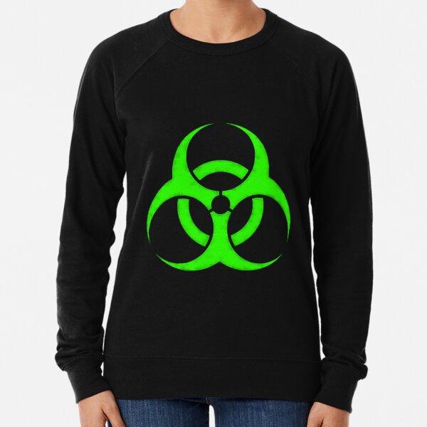 GREEN BIOHAZARD SIGN Lightweight Sweatshirt