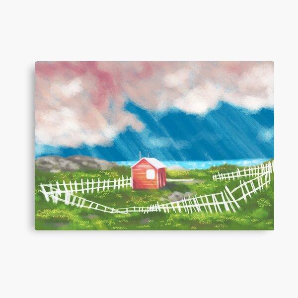 Scenic Hut Canvas Print