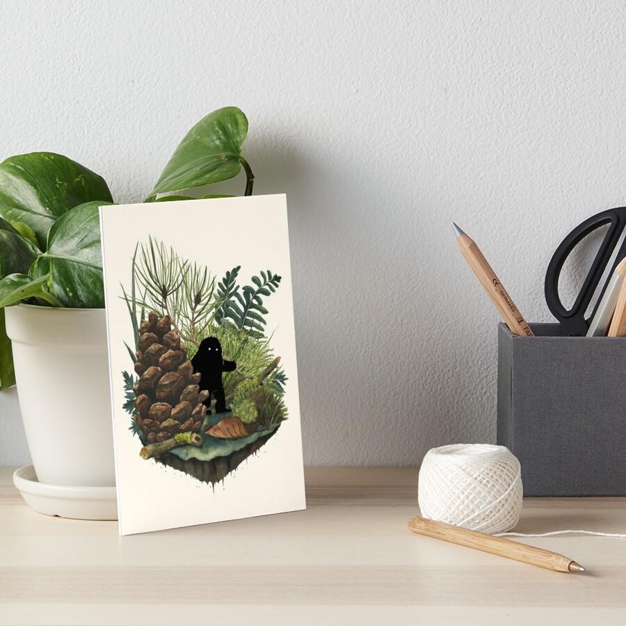 Tiny Sasquatch Art Board Print