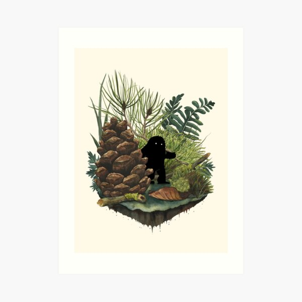 Tiny Sasquatch Art Print