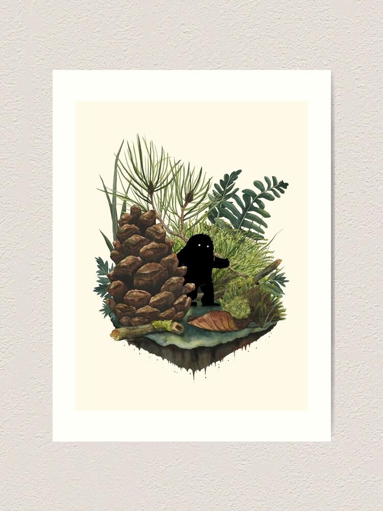 Alternate view of Tiny Sasquatch Art Print