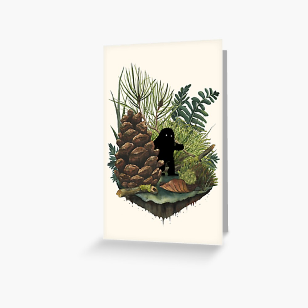 Tiny Sasquatch Greeting Card