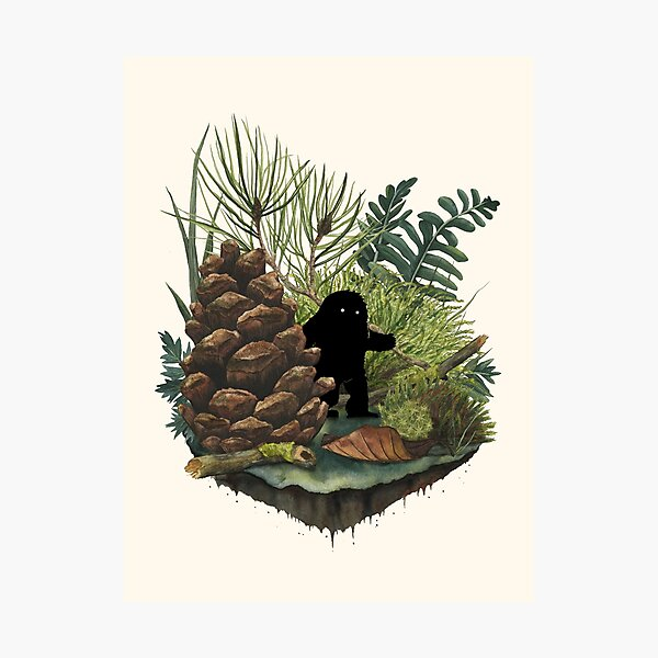Tiny Sasquatch Photographic Print