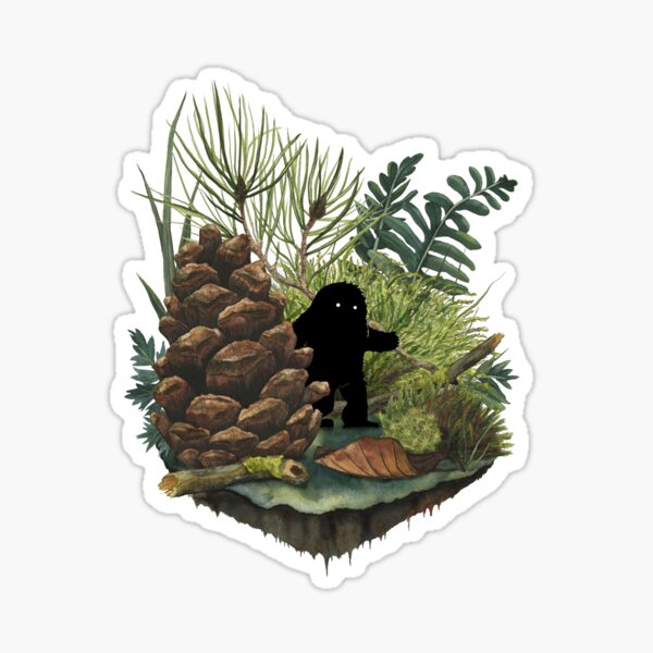 Tiny Sasquatch Sticker