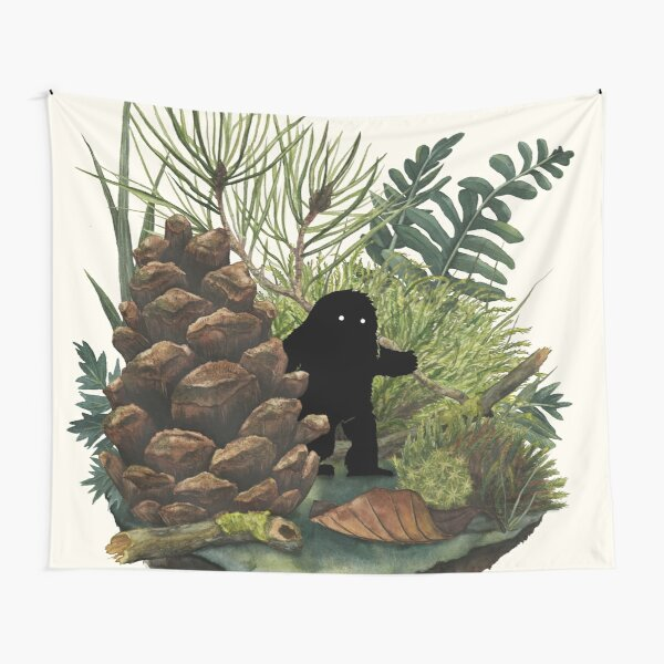 Tiny Sasquatch Tapestry