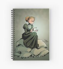 Marie Curie and the Radium. Spiral Notebook