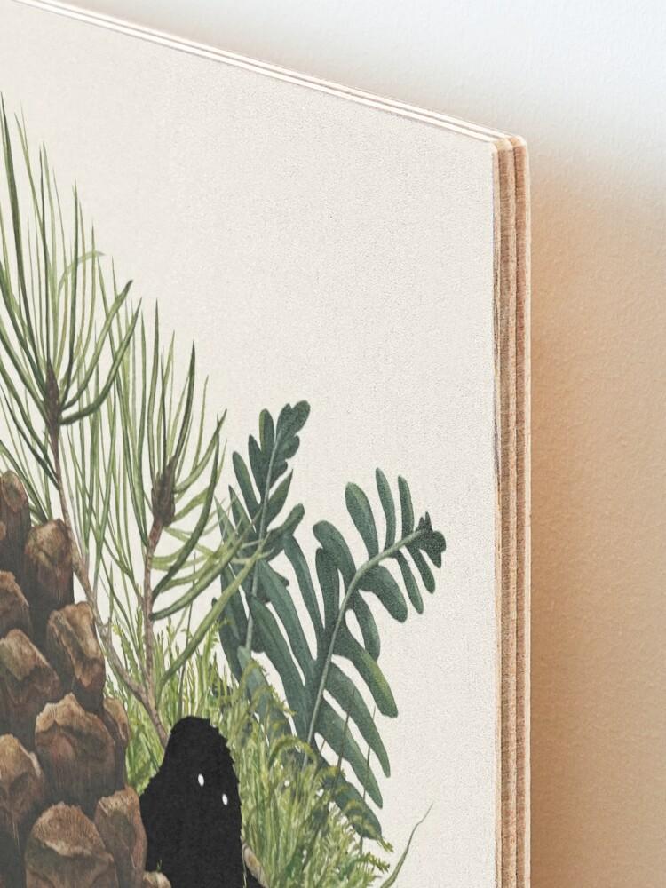 Alternate view of Tiny Sasquatch Mounted Print