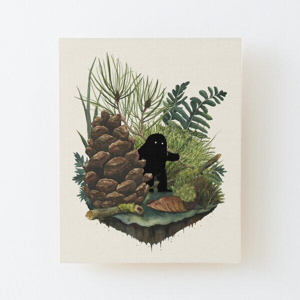 Tiny Sasquatch Wood Mounted Print