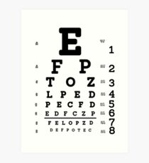 Snellen Eye Chart Art Print