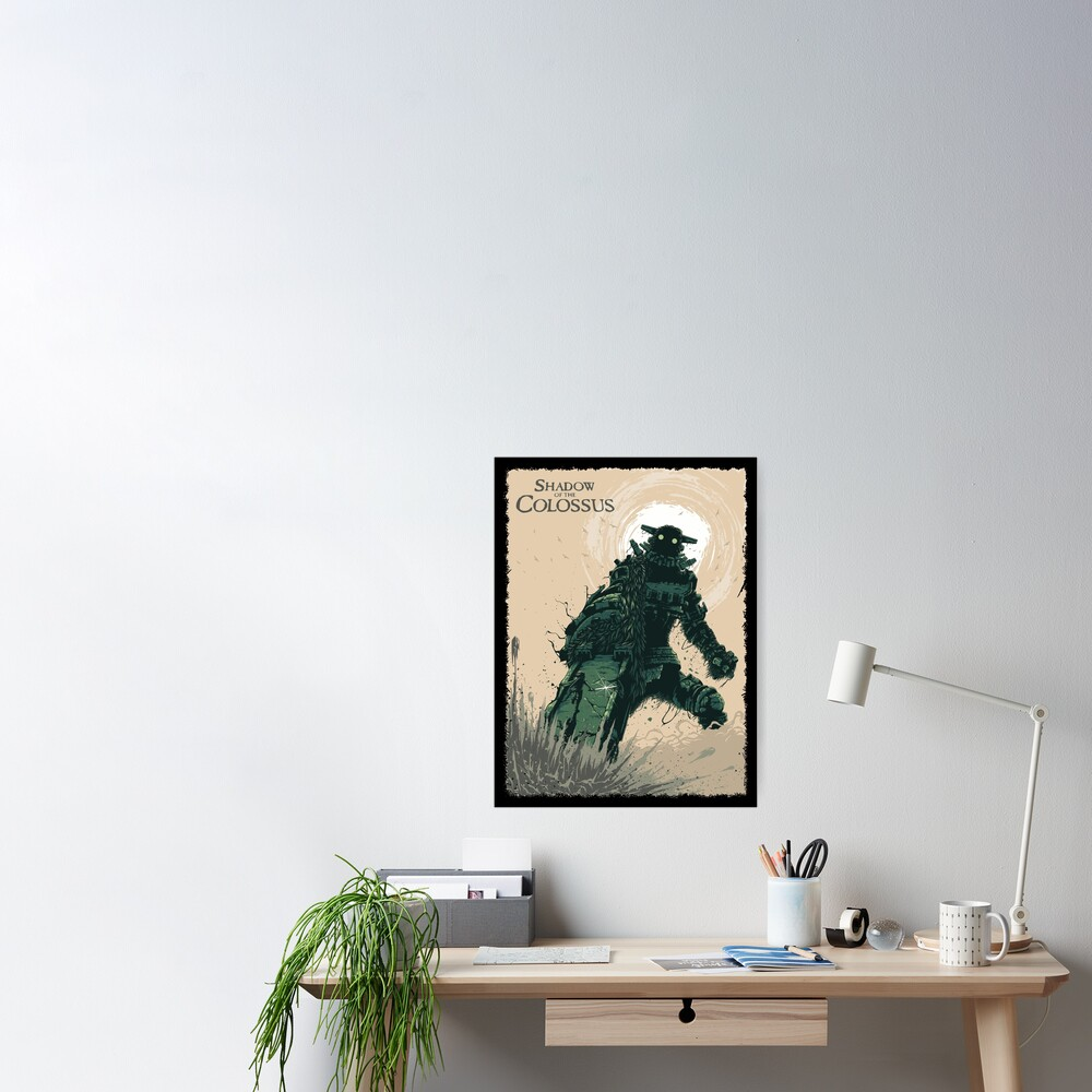 Shadow of The Colossus Bossfight Battle Artwork Poster