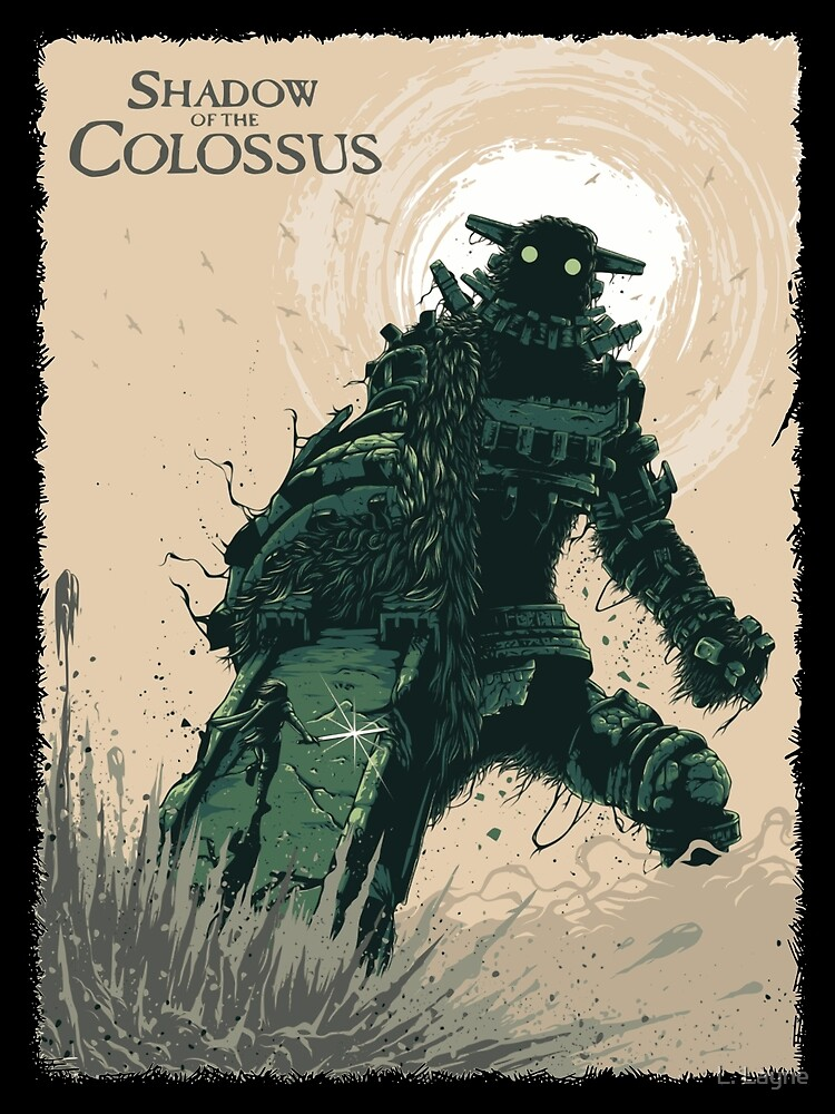 Shadow of The Colossus Bossfight Battle Artwork by LorenzoGnech