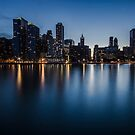 Chicago Skyline at dusk by Sven Brogren