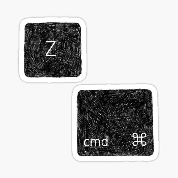 undo cmd Z Sticker