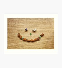 Winking smile face of Mixed Nuts Art Print
