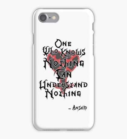 Kingdom Hearts: Ansem quote iPhone Case/Skin