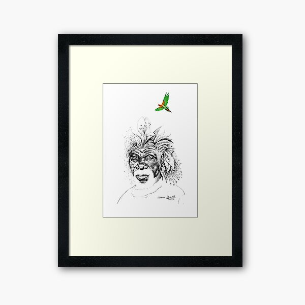 Sunkissed Sunman Framed Art Print