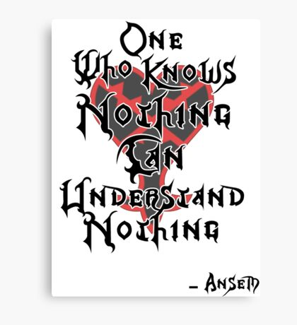 Kingdom Hearts: Ansem quote Canvas Print