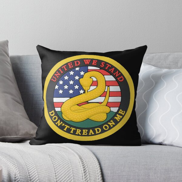 Don't Tread on me - United We Stand Throw Pillow