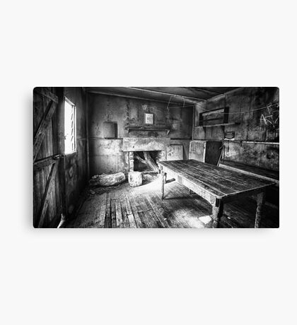 Inside Edmonson's Hut Canvas Print