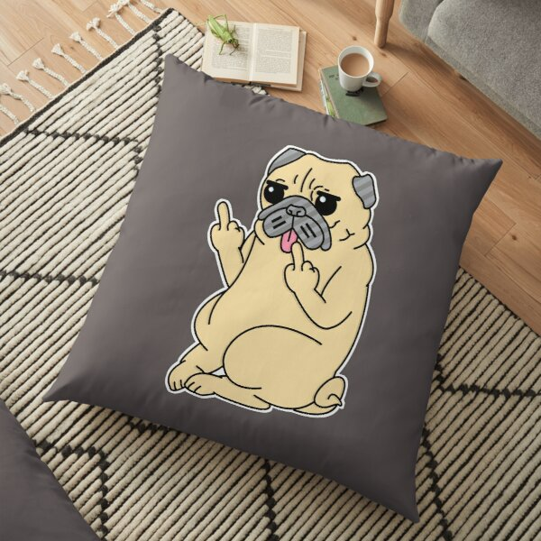 -Pug Off- Floor Pillow