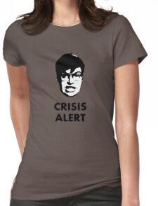 Garret Crisis Alert  Womens Fitted T-Shirt