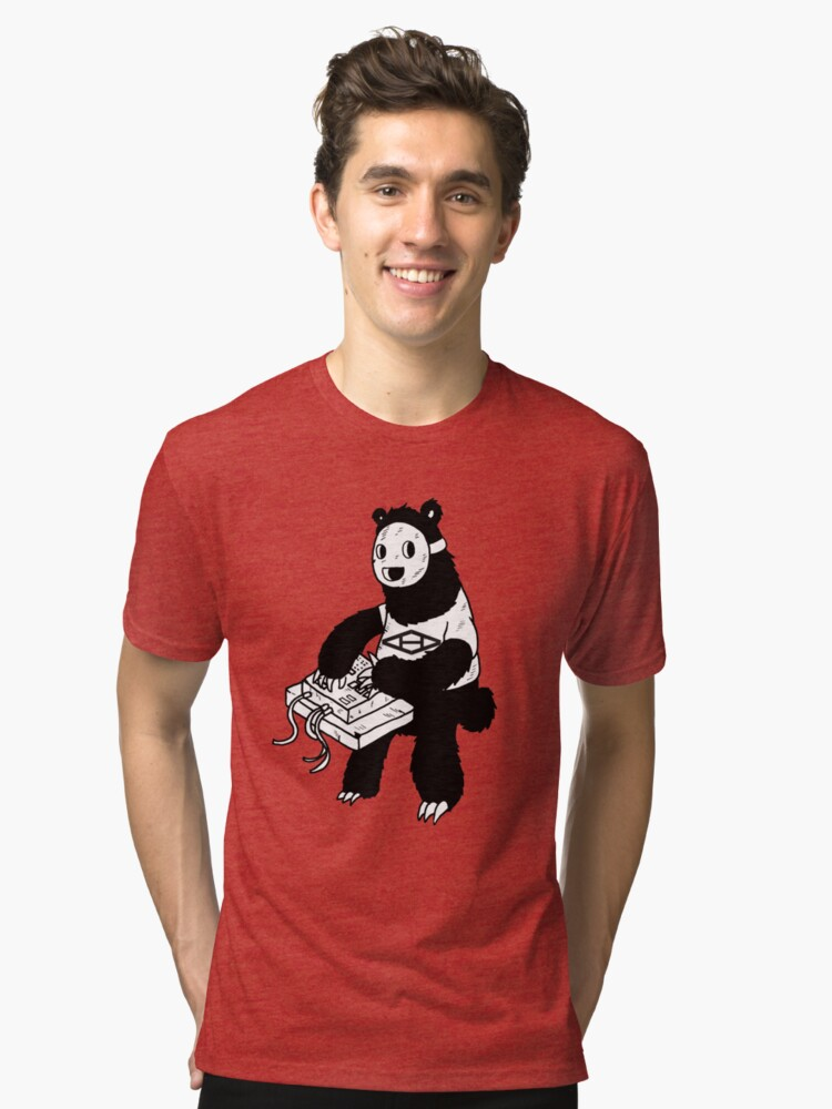 AAHIPHOP MPC Bear Tri-blend T-Shirt Front