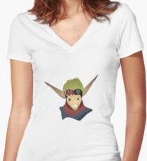 Jak  Women's Fitted V-Neck T-Shirt